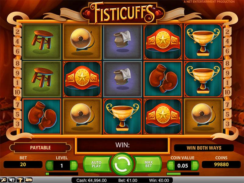 Fisticuffs videoslot